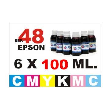 48 pack 6 botellas 100 ml. CMYKpCpM
