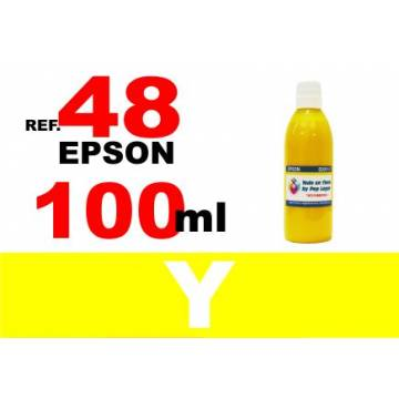 48 botella 100 ml. tinta amarilla