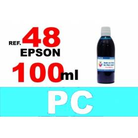 Epson 48 botella 100 ml. tinta cian photo