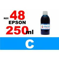 Epson 48 botella 250 ml. tinta cian
