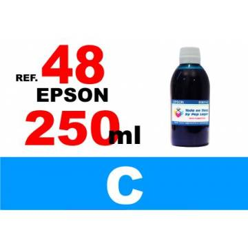 48 botella 250 ml. tinta cian