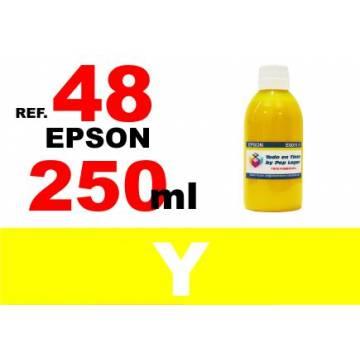 48 botella 250 ml. tinta amarilla
