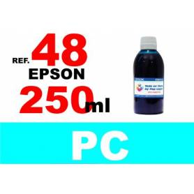 Epson 48 botella 250 ml. tinta cian photo