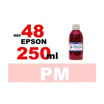 48 botella 250 ml. tinta magenta photo