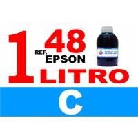 Epson 48 botella 1 L tinta cian