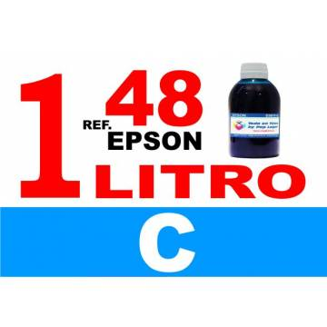 48 botella 1 L tinta cian