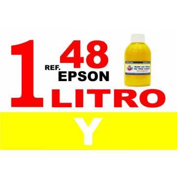 48 botella 1 l tinta amarilla