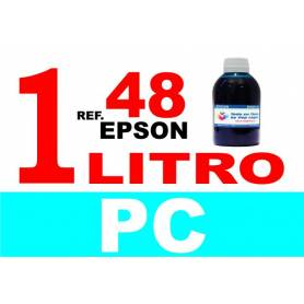 Epson 48 botella 1 L tinta cian photo