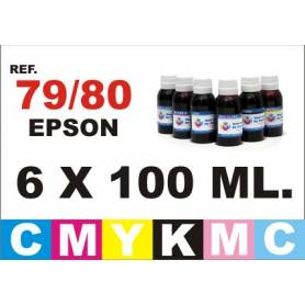 Epson 79 pack 6 botellas 100 ml. CMYKpCpM
