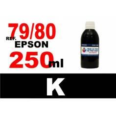 Para cartuchos Epson 79 y 80 botella 250 ml. tinta compatible negra