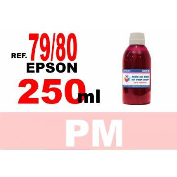 Para cartuchos Epson 79 y 80 botella 250 ml. tinta compatible magenta photo