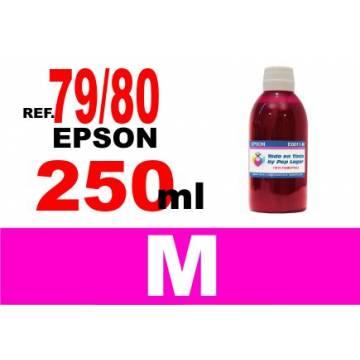Para cartuchos Epson 79 y 80 botella 250 ml. tinta compatible agenta