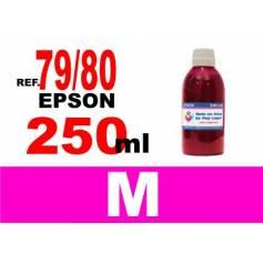 Para cartuchos Epson 79, 80 y 378 botella 250 ml. tinta compatible magenta