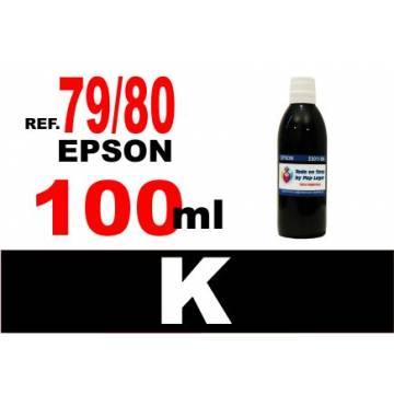 Para cartuchos Epson 79 y 80 botella 100 ml. tinta compatible negra