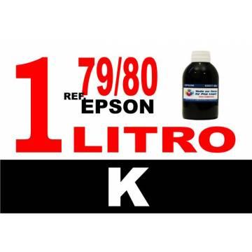 Para cartuchos Epson 79 y 80 botella 1 l tinta compatible negra