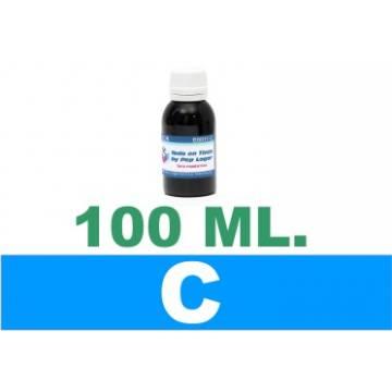 100 ml. tinta cian colorante para cartuchos para HP