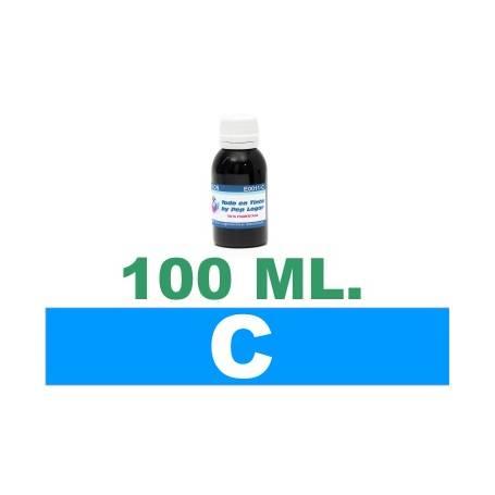 100 ml. tinta cian colorante para cartuchos HP