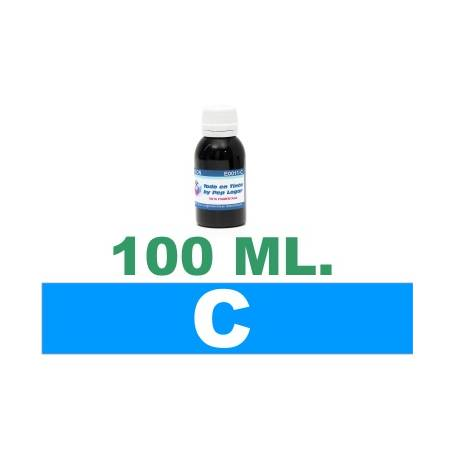 100 ml. tinta cian colorante para cartuchos HP