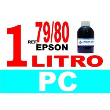 Para cartuchos Epson 79 y 80 botella 1 l tinta compatible cian photo