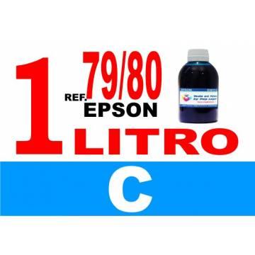 Para cartuchos Epson 79 y 80 botella 1 l tinta compatible cian
