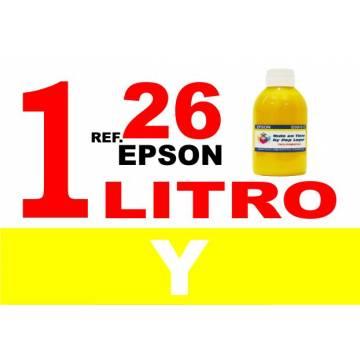 Para cartuchos Epson 26 xl botella 1 l tinta compatible amarilla