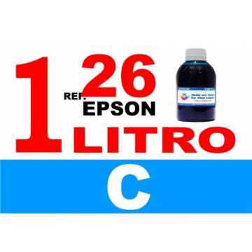 Para cartuchos Epson 26 xl botella 1 l tinta compatible cian