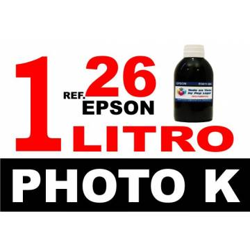 Para cartuchos Epson 26 xl botella 1 l tinta compatible negra photo