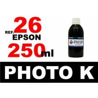 Epson 26 XL botella 250 ml. tinta negra photo