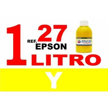 Para cartuchos Epson 27 botella 1 l tinta compatible amarilla