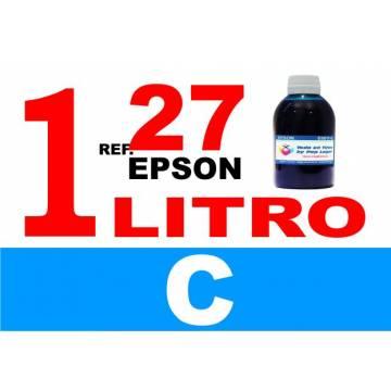 Para cartuchos Epson 27 botella 1 l tinta compatible cian