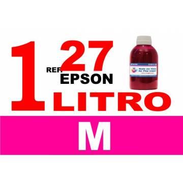 Para cartuchos Epson 27 botella 1 l tinta compatible magenta