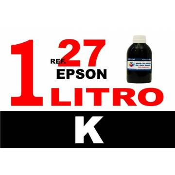 Para cartuchos Epson 27 botella 1 l tinta compatible negra