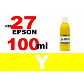 Epson 27, botella 100 ml. tinta amarilla