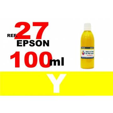 Para cartuchos Epson 27 botella 100 ml. tinta compatible amarilla