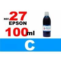 Epson 27, botella 100 ml. tinta cian
