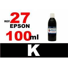 Para cartuchos Epson 27 botella 100 ml. tinta compatible negra