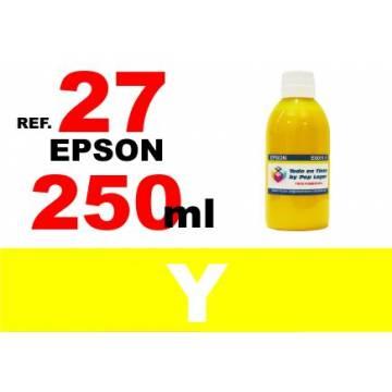 27, botella 250 ml. tinta amarilla
