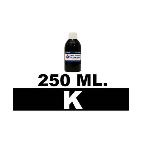 250 ml. tinta negra pigmentada para cartuchos Canon