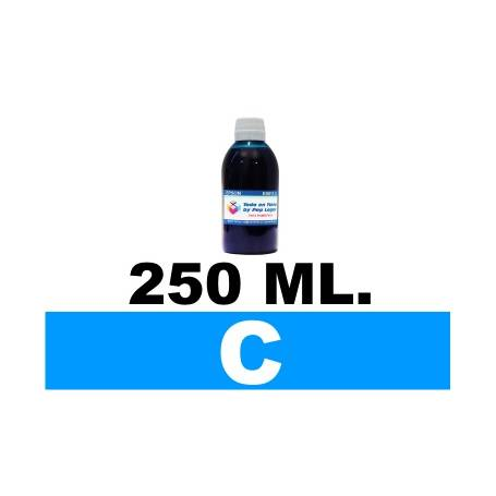 250 ml. tinta cian colorante para cartuchos Canon