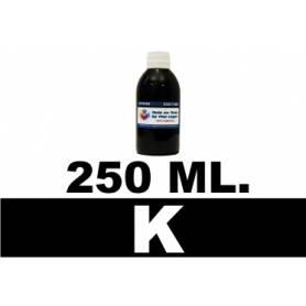 250 ml. tinta negra colorante para cartuchos Canon