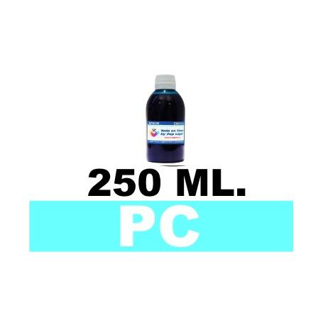 250 ml. tinta cian claro colorante para cartuchos photo HP