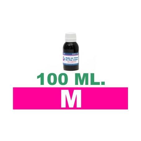 100 ml. tinta magenta colorante para cartuchos HP