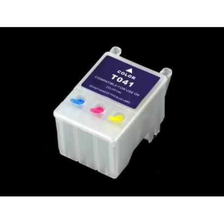 T041 cartucho Transparente recargable vacio para Epson Stylus C62 CX3200