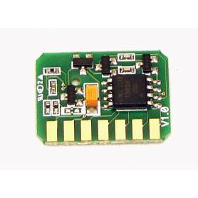 Oki C610 chip cian para recarga de toner