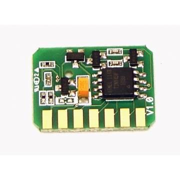 Para Oki c610 chip cian para recarga de tóner