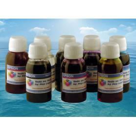 8 botellas de 100 ml. tinta colorante para Epson R800 R1800 cmyk R B G