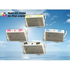 T0611 T0612 T0613 T0614 cartuchos recargables compatibles Epson