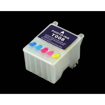 T008 cartucho compatible transparente recargable vacío
