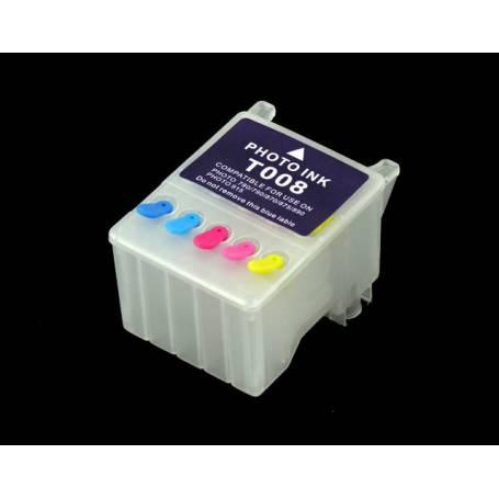 T008 cartucho Transparente recargable vacio para Epson