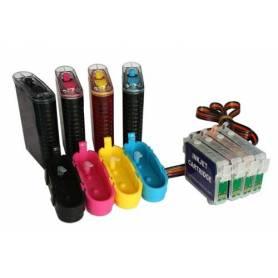 CISS Epson D92 DX4400 DX7400 cartuchos T0711, T0712, T0713, T0714